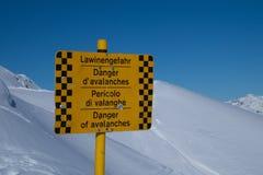 Perigo das avalanchas foto de stock royalty free