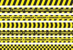Perigo das fitas de advertência Imagem de Stock Royalty Free