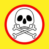 Perigo de Attencion para seu sinal da vida ilustração do vetor