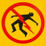 Perigo do ícone do perigo elétrico Imagem de Stock
