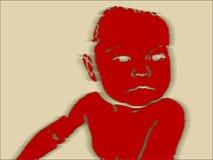 Perigo do bebê Imagens de Stock