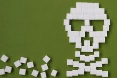 Perigo do crânio do açúcar Imagens de Stock Royalty Free
