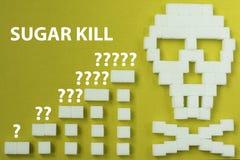 Perigo do crânio do açúcar Fotos de Stock