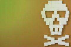 Perigo do crânio do açúcar Imagens de Stock