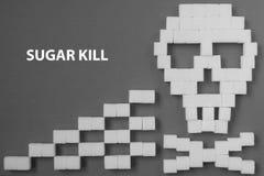 Perigo do crânio do açúcar Fotografia de Stock Royalty Free