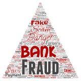Perigo do embuste do pagamento da fraude do banco do vetor Imagens de Stock Royalty Free