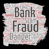 Perigo do embuste do pagamento da fraude do banco do vetor ilustração royalty free