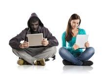 Perigo do Internet Imagens de Stock