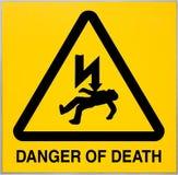 Perigo do sinal da morte fotografia de stock royalty free