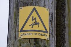 PERIGO do sinal da MORTE Foto de Stock Royalty Free