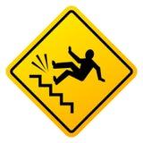 Perigo do sinal de queda das escadas ilustração royalty free