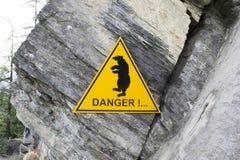 Perigo do urso Imagens de Stock