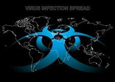 Perigo do vírus Fotografia de Stock Royalty Free