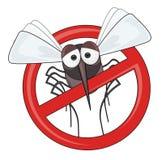 Perigo dos mosquitos - PARE o mosquito Fotografia de Stock