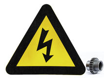 Perigo dos sinais de aviso Fotografia de Stock