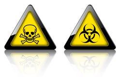 Perigo e sinais de aviso 3D ilustração royalty free