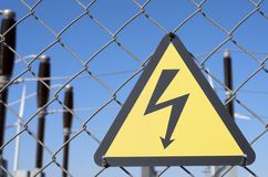 Perigo elétrico foto de stock