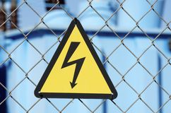 Perigo elétrico fotografia de stock royalty free