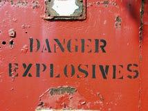 Perigo - explosivos Imagens de Stock