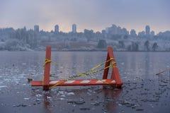Perigo, lago congelado Fotografia de Stock Royalty Free