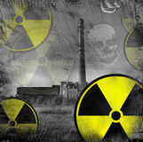 Perigo nuclear Fotos de Stock Royalty Free