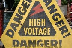 Perigo - sinal Fotos de Stock