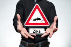Perigo, Zika Imagens de Stock