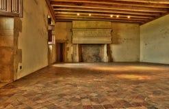 Perigord, Biron美丽如画的城堡在多尔多涅省 免版税库存照片