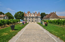 Perigord, το γραφικό κάστρο Monbazillac σε Dordogne στοκ φωτογραφίες με δικαίωμα ελεύθερης χρήσης