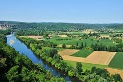 Perigord, Dordogne valley in Castelnaud la Chapelle Royalty Free Stock Image
