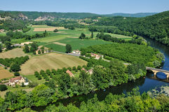 Perigord, Dordogne valley in Castelnaud la Chapelle Royalty Free Stock Images