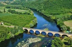 Perigord, Dordogne valley in Castelnaud la Chapelle Stock Photography
