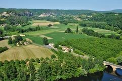 Perigord, Dordogne valley in Castelnaud la Chapelle Stock Image