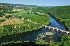 Perigord, Dordogne valley in Castelnaud la Chapelle Royalty Free Stock Photography