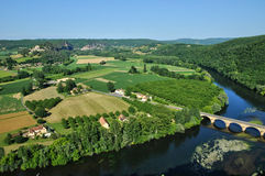 Perigord, Dordogne valley in Castelnaud la Chapelle Stock Images
