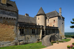 Perigord, o castelo pitoresco de Fenelon em Dordogne foto de stock royalty free