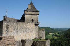 Perigord, the picturesque castle of Castelnaud in Dordogne Stock Photo