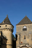 Perigord, the picturesque castle of Saint Genies in Dordogne Stock Photos