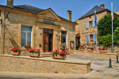 Perigord, the picturesque city hall of Carlux in Dordogne Royalty Free Stock Image