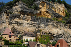 Perigord, the picturesque village of La Roque Gageac in Dordogne Royalty Free Stock Photography