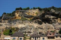 Perigord, the picturesque village of La Roque Gageac in Dordogne Stock Photo