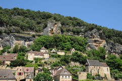Perigord, the picturesque village of La Roque Gageac in Dordogne Royalty Free Stock Images