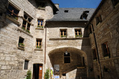 Perigord Quercy, the picturesque Palais de la Raymondie in Marte Royalty Free Stock Images