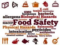 Perigos do alimento ilustração stock
