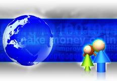 Perigos do Internet ilustração royalty free
