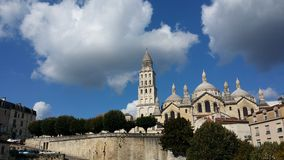 Perigueux. Spirituality in heavenly blue skies Stock Photography