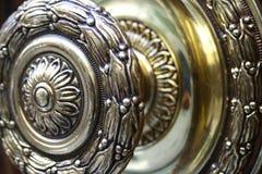 Perilla de puerta del oro Foto de archivo
