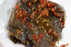 Perilla Leaf kimchi Royalty Free Stock Photos