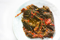Perilla Leaf kimchi Stock Photography