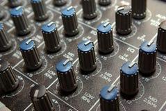 Perillas de control audios Fotos de archivo libres de regalías